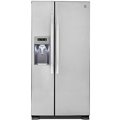 Kenmore 51813 21.9 cu. ft. Side-by-Side Refrigerator w/ Dispenser – Stainless Steel