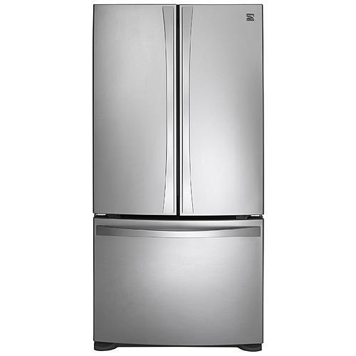 "Kenmore Elite 73033 25.0 cu. ft. 33"" French-Door Bottom-Freezer Refrigerator Non-Dispenser"