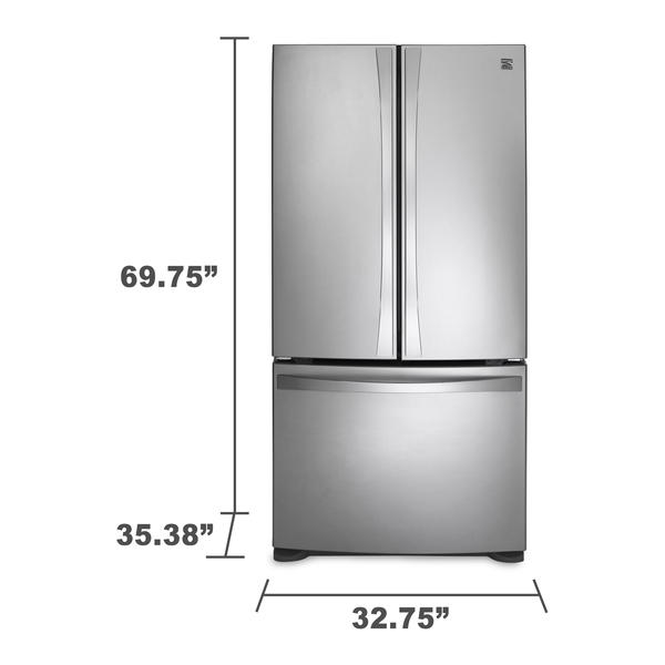 doors elite kenmore french max refrigerator furniture kitchen fbx model models door cgtrader