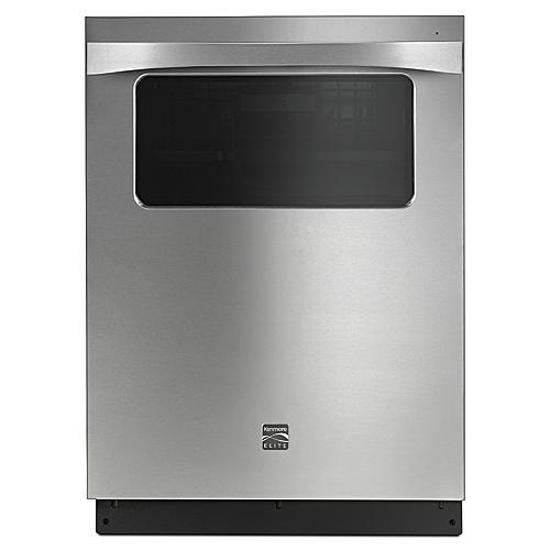 """Kenmore Elite 14823 24"""" Built-in Dishwasher with Observation Window – Stainless Steel"""