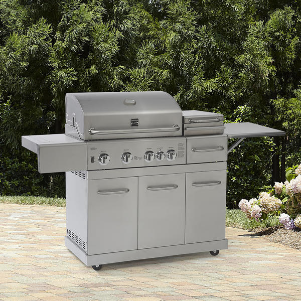 Kenmore 4 Burner Gas Grill with Top Sear Drawer/Steamer