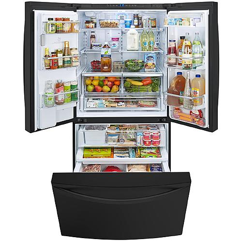 kenmore bottom freezer refrigerator. kenmore elite 74049 23.7 cu.ft. counter-depth french door bottom-freezer refrigerator bottom freezer e