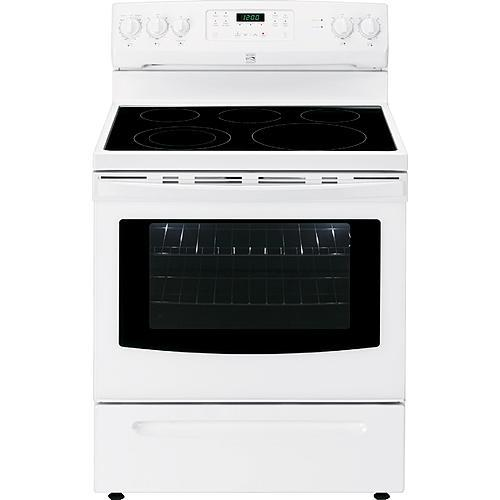 kenmore glass top stove. kenmore 94182 5.4 cu. ft. electric range - white glass top stove