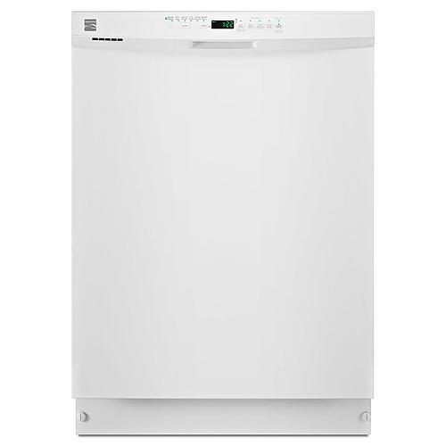 """Kenmore 13202 24"""" Built-In Dishwasher w/ PowerWave™ Spray Arm - White"""