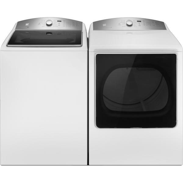Kenmore 5.3 cu. ft. Top-Load Washer w/ a Triple Action Impeller & 8.8 cu. ft. Dryer w/ SmartDry Tech - White