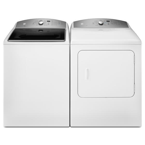 Kenmore 4.8 cu. ft. Top Load Washer & 7.0 cu. ft. Dryer - White