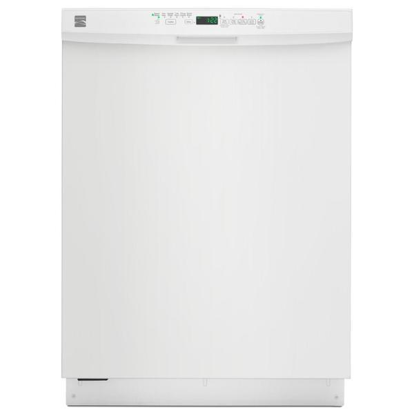 "Kenmore 13402 24"" Built-In Dishwasher w/ PowerWave™ Spray Arm & TurboZone™ Option - White"