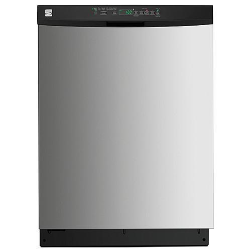 "Kenmore 13403 24"" Built-In Dishwasher w/ PowerWave™ Spray Arm & TurboZone™ Option - Stainless Steel"