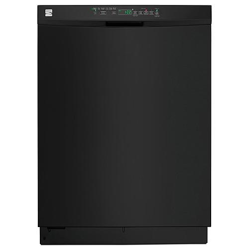 "Kenmore 13409 24"" Built-In Dishwasher w/ PowerWave™ Spray Arm - Black"