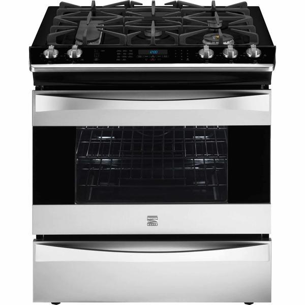 Kenmore Elite 32633 4.5 cu. ft. Slide-In Gas Range - Stainless Steel