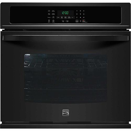 "Kenmore 49519 30"" Electric Self-Clean Single Wall Oven /w Convection - Black"