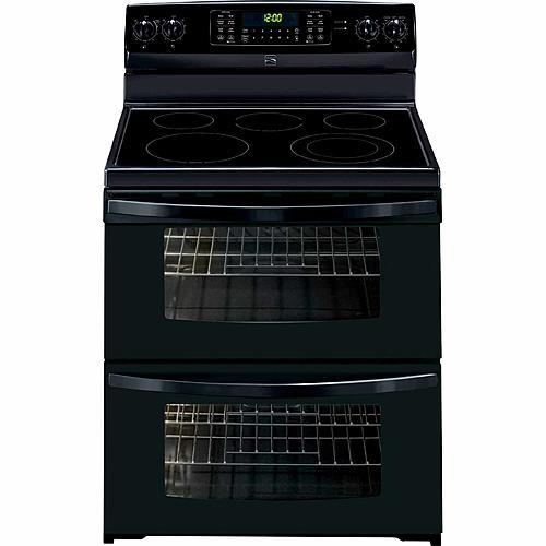 doubleoven electric range w convection black