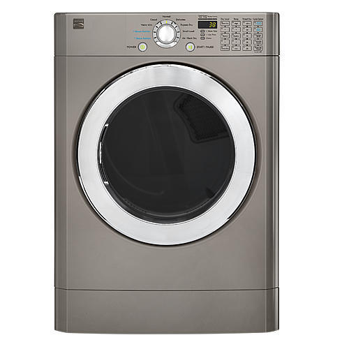 Kenmore 81393 7.3 cu. ft. Front-Load Flip Control Electric Dryer - Metallic Silver