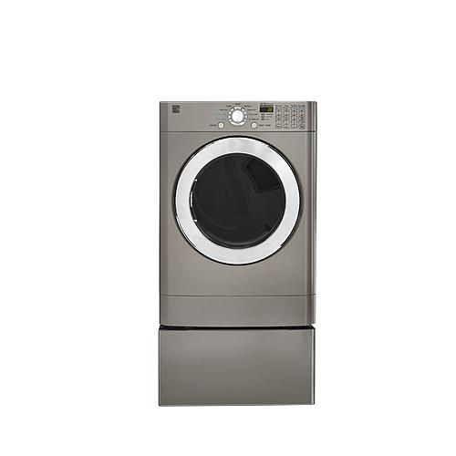 kenmore front load dryer. kenmore 81393 7.3 cu. ft. front-load flip control electric dryer - metallic silver front load