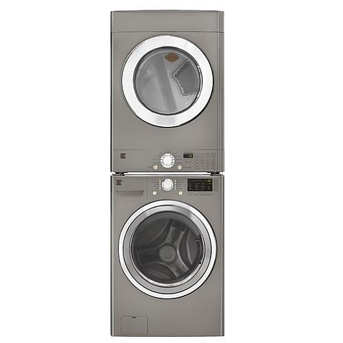 frontload flip control electric dryer metallic silver