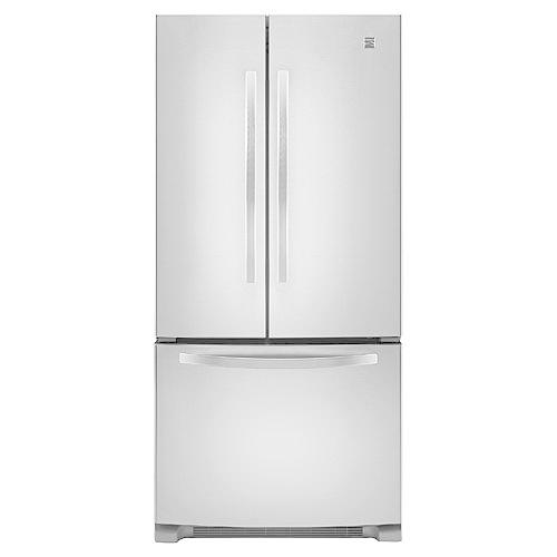 "Kenmore 72003 22.1 cu. ft. 33"" French Door Bottom-Freezer Refrigerator w/Internal Dispenser - Stainless Steel"