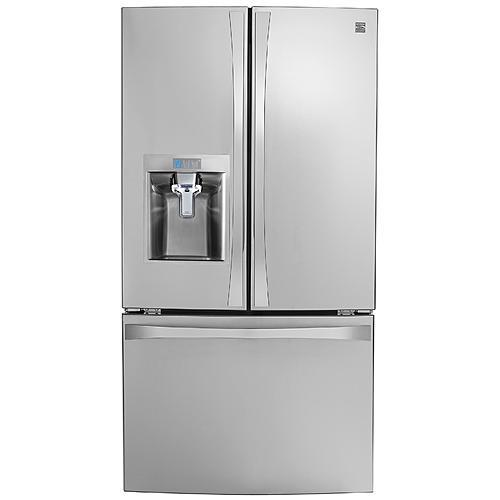 Kenmore Elite 74043  23.7 cu. ft. French Door Bottom-Freezer Refrigerator—Stainless Steel