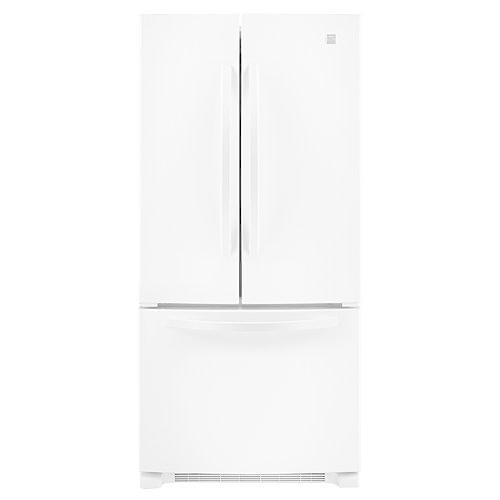 "Kenmore 72002 22.1 cu. ft. 33"" French-Door Bottom-Freezer Refrigerator w/Internal Dispenser - White"