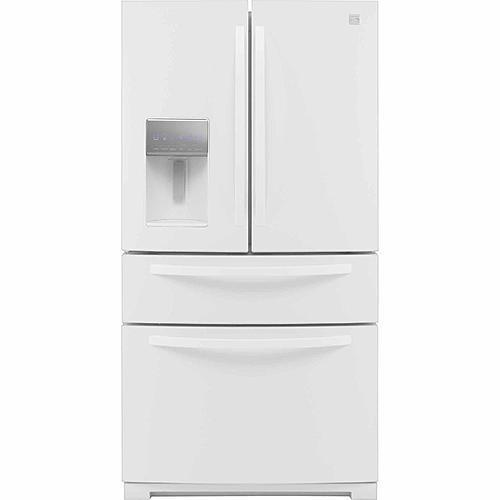 kenmore elite fridge white. kenmore 72382 26.2 cu. ft. french door refrigerator w/ fresh storage drawer - white elite fridge f