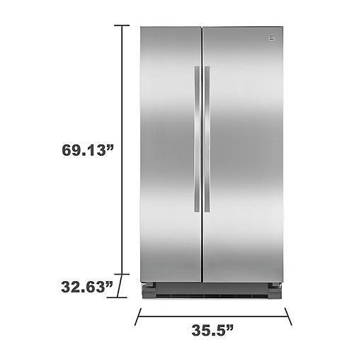 kenmore refrigerator stainless steel. kenmore 41153 25 cu. ft. side-by-side refrigerator - stainless steel i