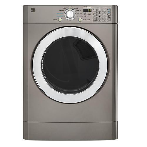 Kenmore 91393  7.3 cu. ft. Front-Load Flip Control Gas Dryer - Metallic Silver