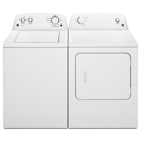 Kenmore 3.5 cu. ft. Top Load Washer & 6.5 cu. ft. Dryer Bundle - White