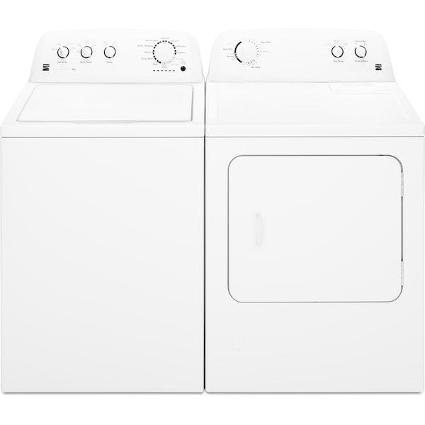 Kenmore 3.5 cu. ft. Agitator Top-Load Washer &  Electric 7.0 cu. ft.Dryer - White