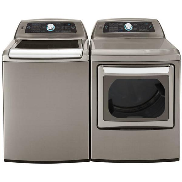 Kenmore Elite 5.2 cu. ft. Top Load Washer & 7.3 cu. ft. Electric Dryer  - Metallic Silver