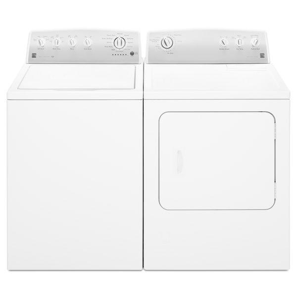 Kenmore 3.6 cu. ft. Agitator Top-Load Washer & 7.0 cu. ft.Gas or Electric Dryer - White