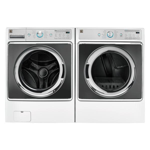 Kenmore Elite 5.2 cu. ft. Front-Load Washer and 9.0 cu. ft. Front Control Gas Dryer -  White