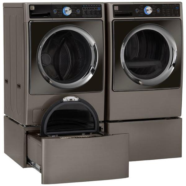 Kenmore Elite 4.5 cu. ft. Washer & 7.4 cu. ft. Electric Dryer - Metallic silver