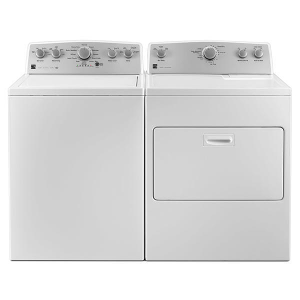 Kenmore 4.2 cu. ft. Top-Load Washer w/ Deep Fill & 7.0 cu. ft. Dryer w/ SmartDry Plus Tech - White