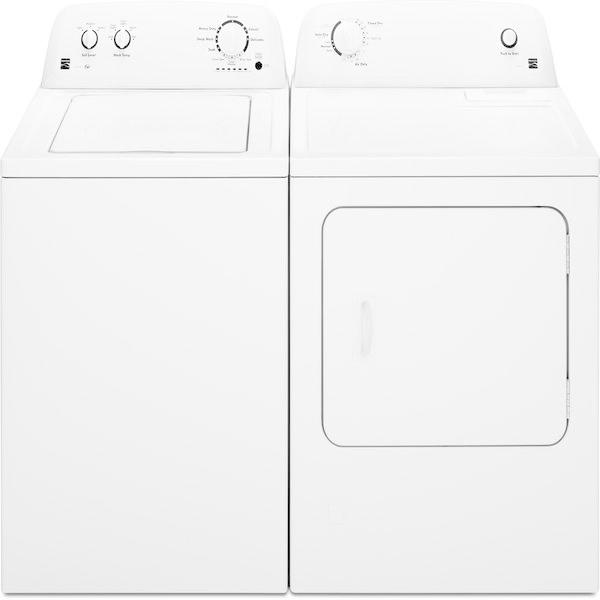 Kenmore 3.5 cu. ft. Top-Load Washer &  6.5 cu. ft. Electric Dryer - White