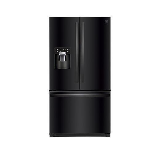 Kenmore 111.73049 25.6 CuFt Black French Refrigerator