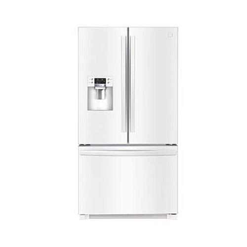Kenmore 111.73042 25.6 CuFt White French Refrigerator