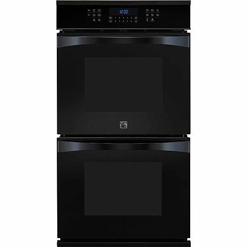 "Kenmore Elite 48449  27"" Electric Double Wall Oven w/ True Convection™  - Black"