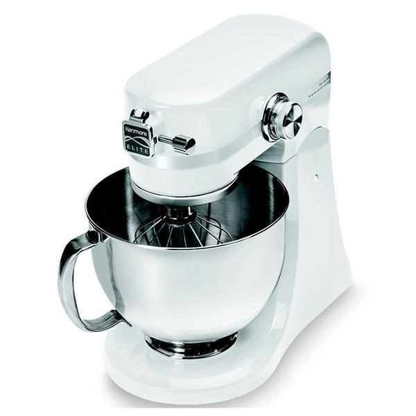 Kenmore Elite 216901-W  5-Quart 400 Watt Stand Mixer - White