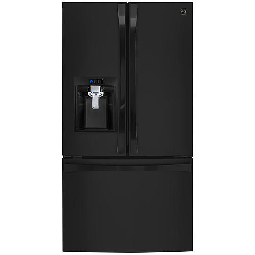 Kenmore Elite 74099  31.7 cu.ft. Super Capacity French Door Bottom-Freezer Refrigerator - Black