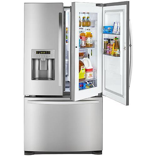 Kenmore 73063  26.6 cu. ft. French Door Bottom-Freezer Refrigerator with Grab-N-Go™ Door - Stainless Steel