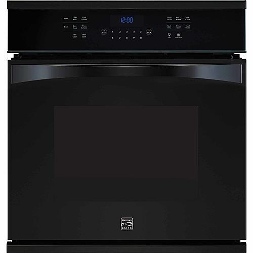 "Kenmore Elite 48349  27"" Electric Single Wall Oven - Black"