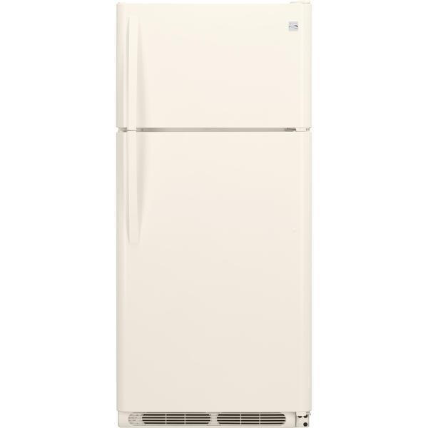 Kenmore 60504  18 cu. ft. Top Freezer Refrigerator w/ Glass Shelves - Bisque