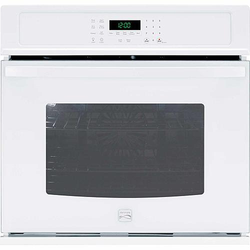 "Kenmore 49502  27"" Electric Self-Clean Single Wall Oven /w Convection - White"