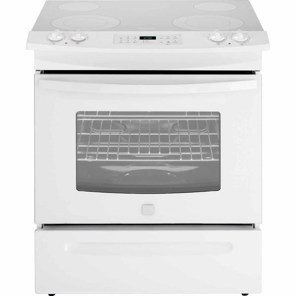 Kenmore 42532  4.6 cu. ft. Slide-In Electric Range w/ White Ceramic Smoothtop Cooktop - White